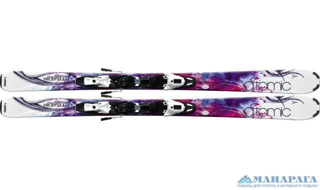 Лыжи Atomic AFFINITY STORM (WHITE) LT + креп. XTO 10 Lady OME whi/sil